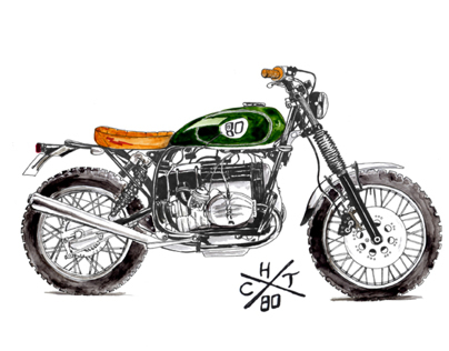 Illustration of motorcycle