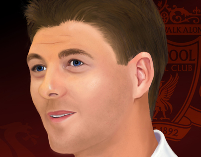 Steven Gerrard Digital Portrait