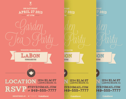 Garden Tea Party Shower Invitation