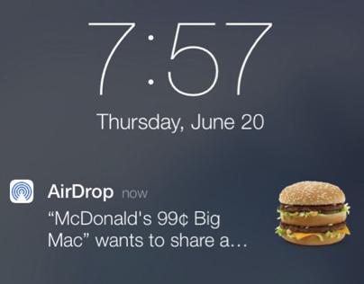 McDonalds iOS 7 AirDrop Ad