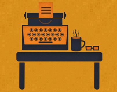 The Writer Illustration