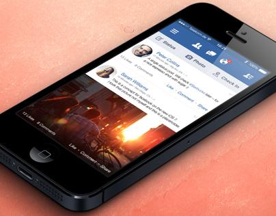 Facebook • iOS 7 • Concept