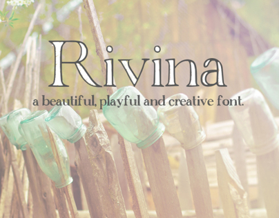 Rivina - A Creative and Playful Font