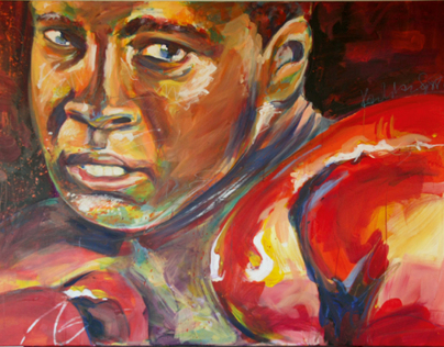 Ali Acryl on Canvas, 150 x 100 cm