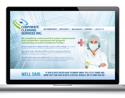 Corporate Cleaning Services Inc. Web Layout