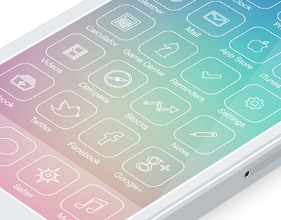 iOS 7 icons Redesign |  line icons