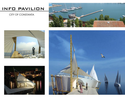 Info Pavilion, city of Constanta, Romania