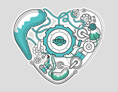 Heart Factory T-shirt design