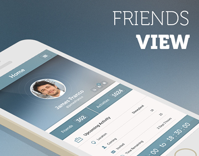 Friends View App Design