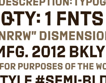 Export typeface
