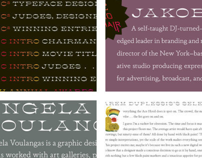 Athenian Extended typeface