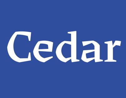 Cedar typeface