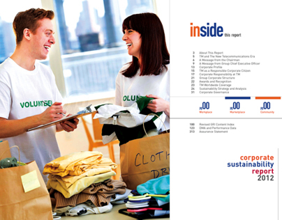 Visual Telekom Malaysia (TM) Sustainability Report 2012