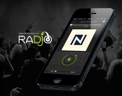 DJ Radio application - UI Design