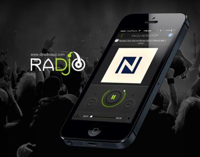 DJ Radio application - UI Design