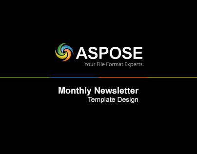 Aspose Newsletter Design