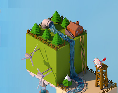 Low poly world - Isometric