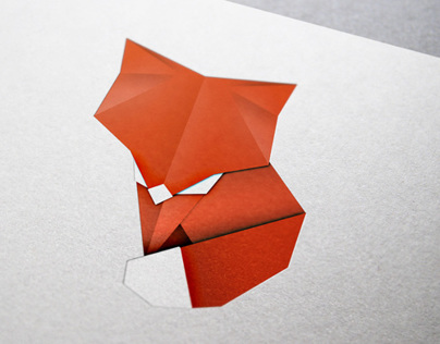 Paper Fox Origami Illustration