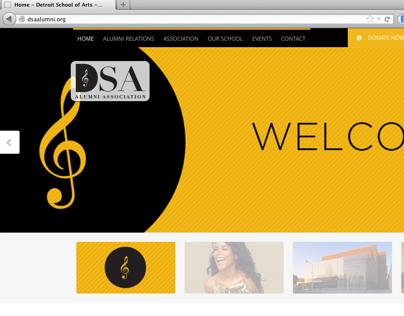 Detroit School of Art Branding + Web