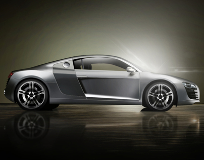 Audi R8 100% Photoshop + Brush