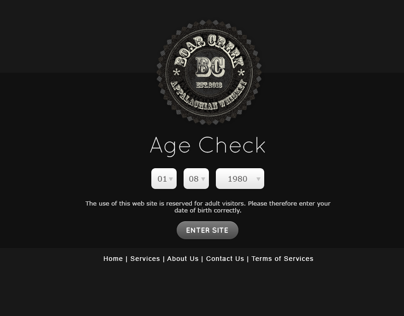 Whiskey Brand Website Design