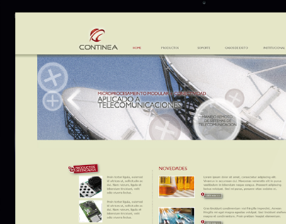 Continea | Website, stationery, newsletters.