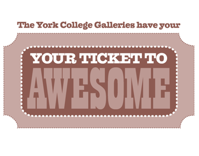 York College Gallery 2013-14 Poster