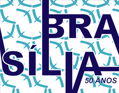 50th Birthday of Brasilia Poster