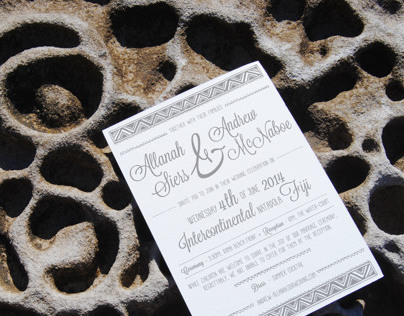 Allanah & Andrew — Fiji Wedding Invite