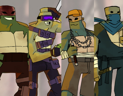 Teenage Mutant Ninja Turtles Concept Redesign