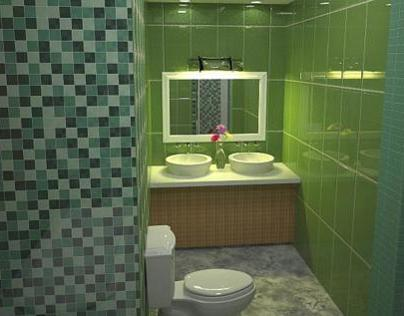 Sketchup = Bathroom Rendering
