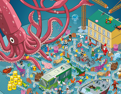 GEOlino magazine illustrations for kids