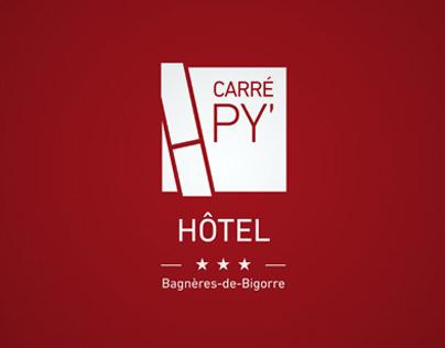 Carré Py Hôtel identity & webdesign