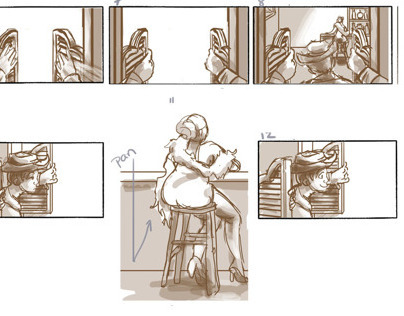Surprise at the Saloon - Storyboards