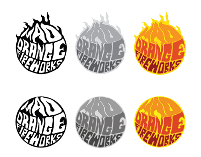 Mad Orange Fireworks Identity