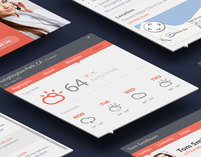 Call Center App UI kit