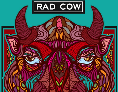 RAD COW VODKA BRANDING