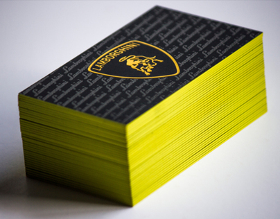 Thick 32pt Silk Laminated Card • Yellow Edge Paint