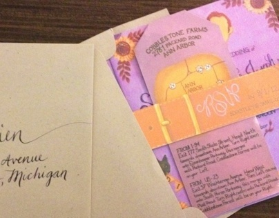 Sara & Kyle Wedding Invites