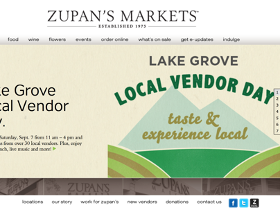Zupan's Markets, Local Vendors Day