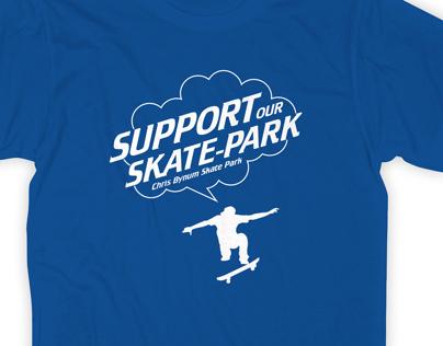 T-shirt Design, Chris Bynum Skate Park