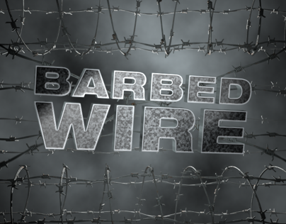 Barbed wire logo revealing