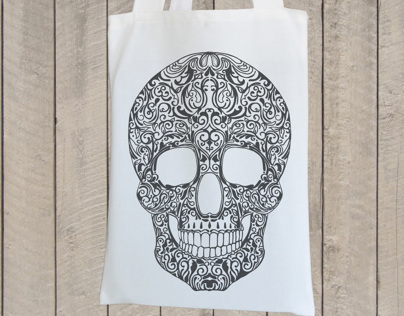 Skull Design for a Tote Bag