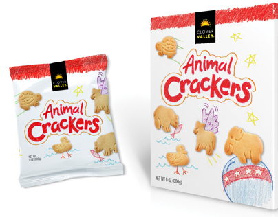 Clover Valley Animal Crackers Packaging