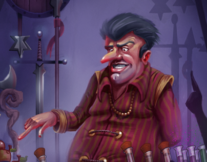 The shopkeeper - ingame art