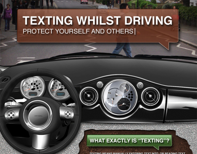 Texting Whilst Driving Infographic