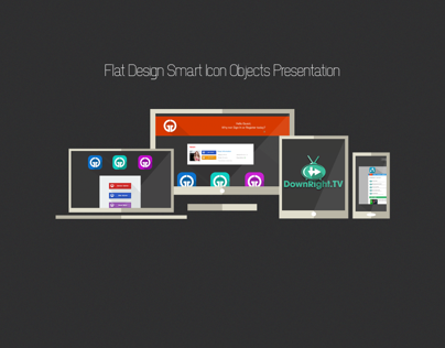 Flat Icons Smart Objects PSD
