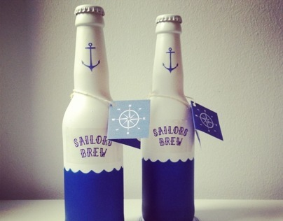 "Beer label ""Sailors Brew"""