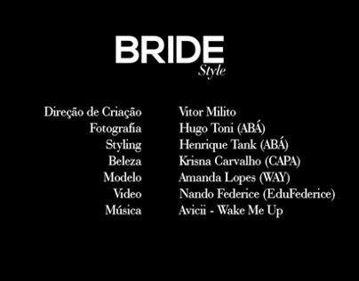 Video design - Anuário BRIDE Style 2013