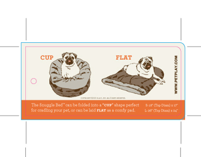 Tag design and illustration for pet beds